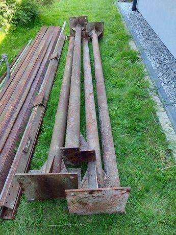 Słupy stalowe 290cm fi 10cm 4szt.
