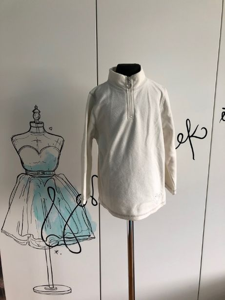 Bluza dziewczęca 4-5 lat (110cm) ecru