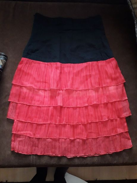 Spódnica spódniczka czerwono-czarna