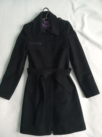 Шерстяне пальто-тренч