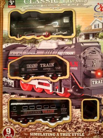 Железная дорога детская игра,запечатанная,новая.