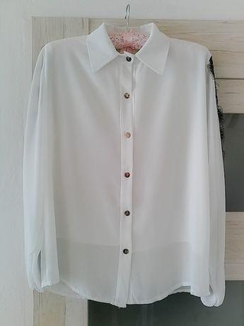 Klasyczna koszula z koronkowym wykończeniem Nowa