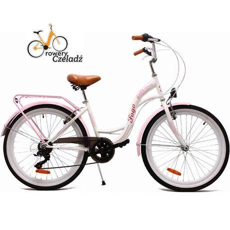 """FOGO Lovely rower dziecięcy 24"""" Biały"""