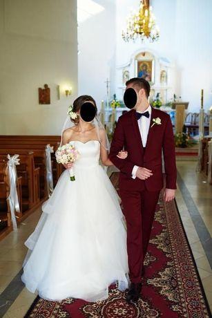 Piękna suknia ślubna roz. 36 Justin Alexander 8779 + gratis!