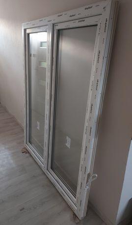 Okno białe dwuskrzydłowe wys. 175 szer. 145
