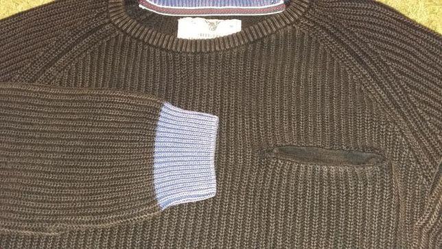 Sweter męski z kieszonką XXL duży