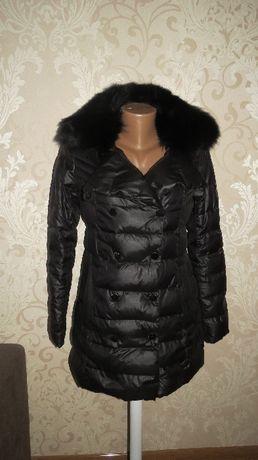 Куртка-пальто с натуральным мехом.Турция