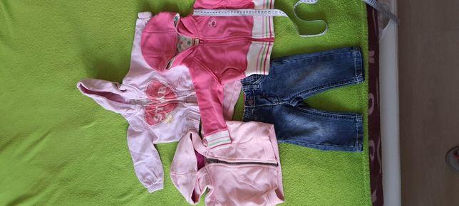 Кофта, джинсы 1-2 года