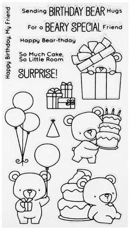 Ursos Carimbos scrapbooking, cartões e diversos. NOVOS, envio grátis