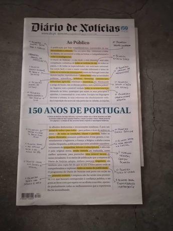 Diário Noticias - Edição comemorativa dos 150 anos  - ano 2014