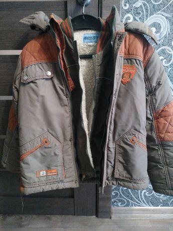 Зимняя куртка с желеткой  на мальчика