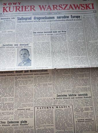 Nowy Kurier Warszawski upadek Stalingradu 1943