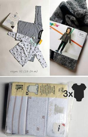 r. 92 NOWE ubranka paczka pakiet zestaw bluza body bluzki pszczoła