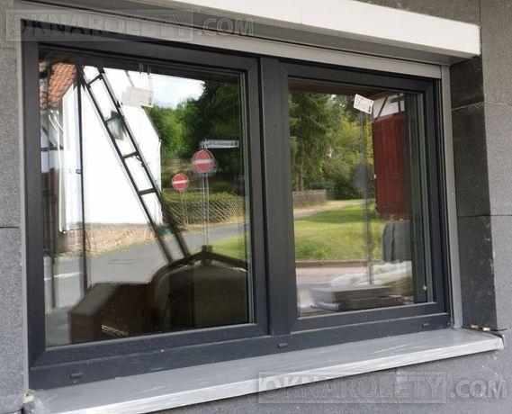 Okno PCV PCW Antracyt Orzech Złoty dąb Mahoń 180x120 Kielce