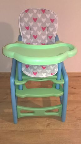 Krzesełko do karmienia 2w1 ,krzesło+stolik do jedzenia Kindereo