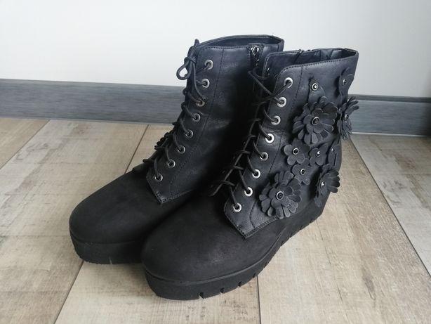 Buty botki  skórzane