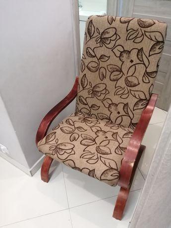 Fotel bujany jasno brązowy