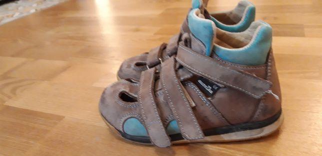 buty skórzane Aurelka roz. 24, dł. wkł. 16,3cm (szafa Jerzyka)