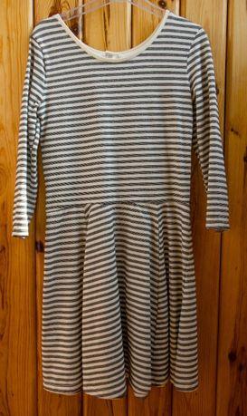 Платье в полоску на девочку р.140