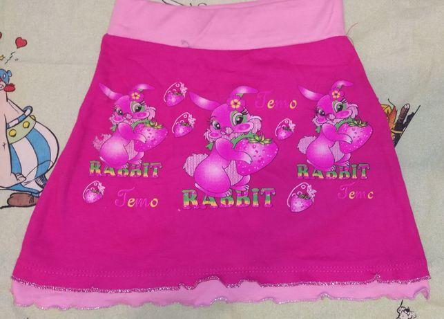 Трикотажная юбка для девочки 2-3 лет.