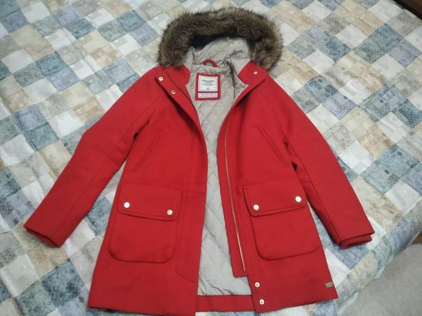 Шерстяное утепленное пальто парка Abercrombie&Fitch