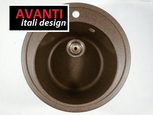 Акция!Кухонная гранитная мойка Avanti 505 все цвета!
