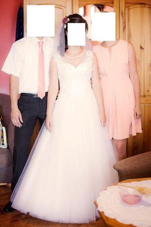 Suknia ślubna biała princessa