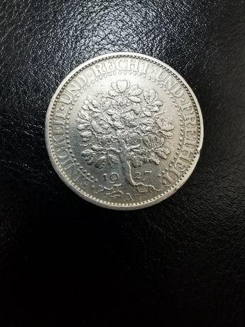 5 марок 1927 А, Германия, Веймарская республика, Дуб
