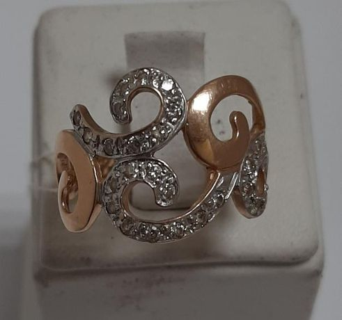 Кольцо из красного золота с цирконием (12653771) (12653771)