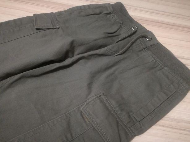 Spodnie harcerskie bojówki khaki stan bdb