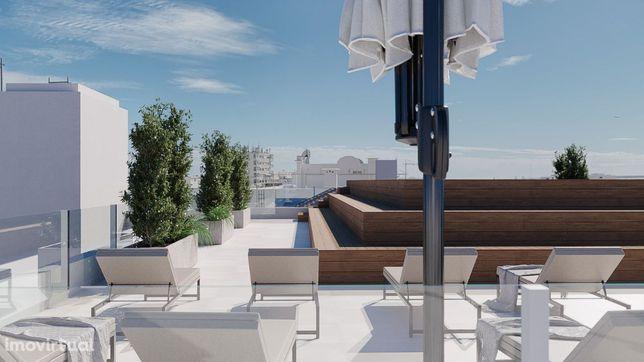 Apartamento T1 Novo No Centro De Olhão C/ PISCINA