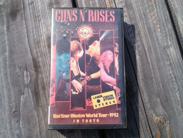 Guns n' Roses- starocie vhs, kasety video