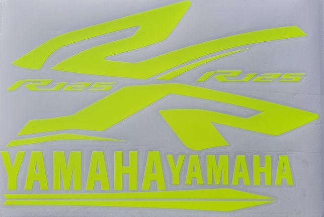 Okleina Fluo Yamaha YZF R125 Wzór Tech Black 08-18