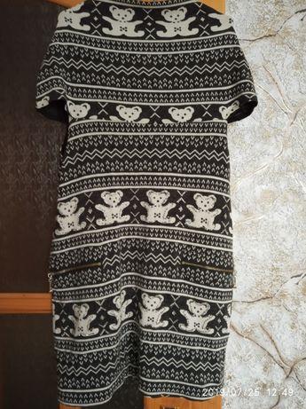 Плаття платье туника туніка М 44 46 теплая новий год рік новый зима