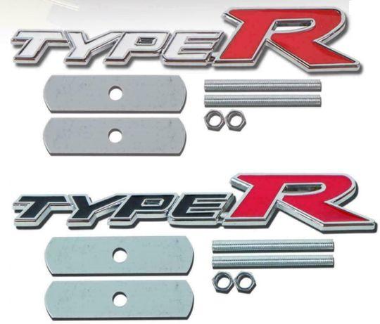 NOWY emblemat TYPE R grill TYPER znaczek logo HONDA czarny biały