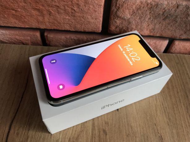 Iphone X Silver 64 gb / Kondycja baterii 100% / Stan bardzo dobry