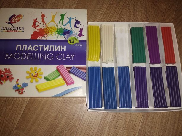 Пластилин 11 цветов дёшево