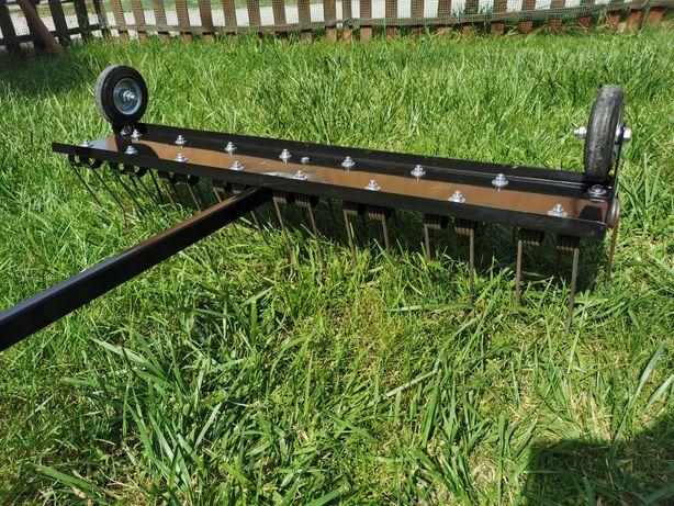Aerator sprężynowy grabie brona pazurkowa do traktorka kosiarki+zaczep