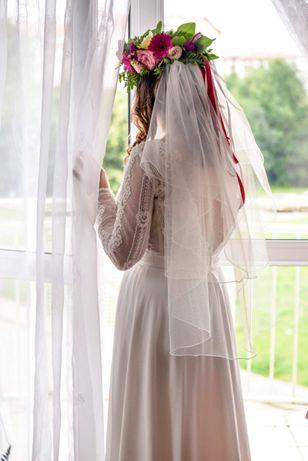 Romantyczna koronkowa suknia ślubna BOHO