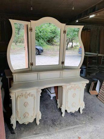 Мебель натуральное дерево стол будуарный кофейный
