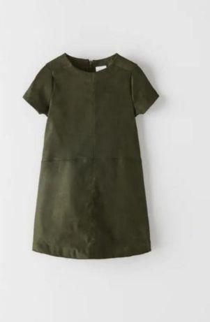 Плаття з штучної замші zara