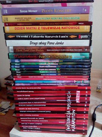 (Ko)lekcja polskich kabaretów plus inne tytuły, 35 płyt DVD.