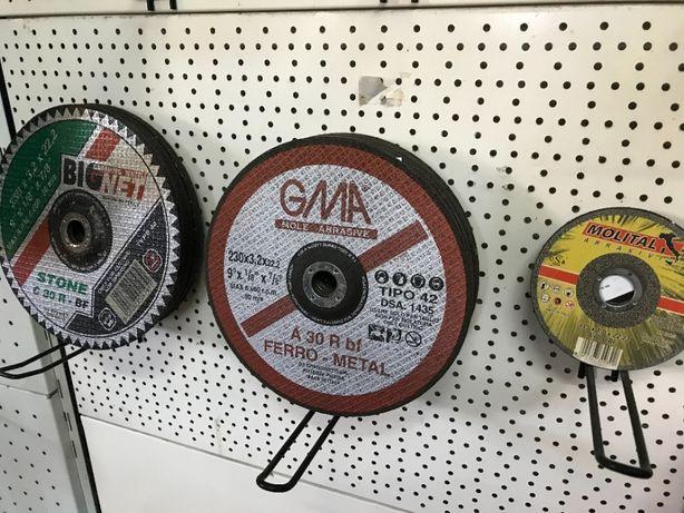 Discos de Corte Pedra; Ferro; Metal; Inox (Novos)