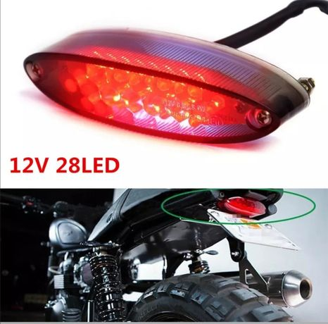 Farolim de stop , luz de matrícula led para mota