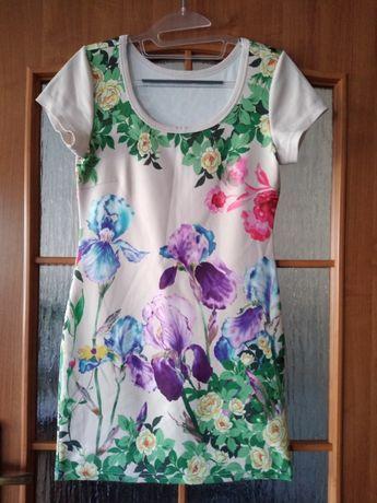 Sukienka mini r s kwiaty