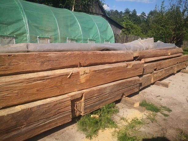 Belki ciosane jodłowe 70 letnie ze stodoły