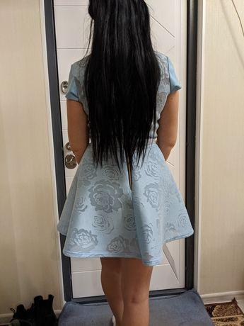 Платье голубое,нарядное