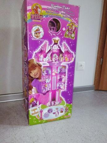 Tęczowa wieża Filly Simba + 53 kucyki z oryginalnym pudełkiem
