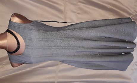 CALVIN KLEIN USA Oryginalna! Sukienka Plisowana Rozkloszowana Szara