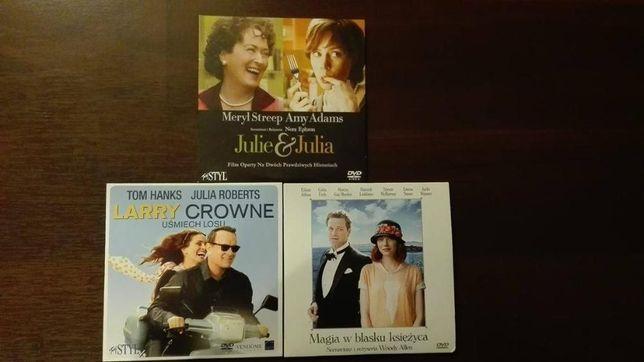 Film DVD Julie&Julia,Magia w blasku księżyca,Larry Crowne UśmiechLosu